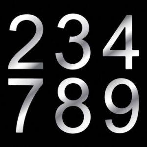 Aluminium Composite House Numbers