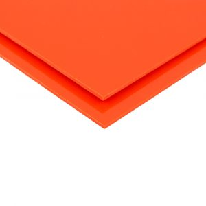 Orange Telbex Pressed PVC Sheet Wall Cladding