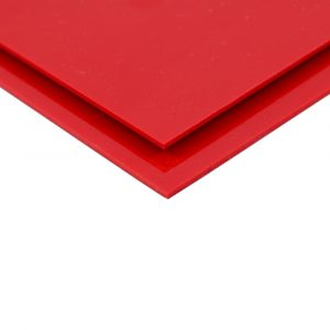 Red Telbex Pressed PVC Sheet Wall Cladding