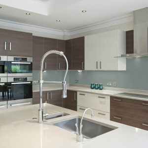 Ocean Grey High Gloss Acrylic Kitchen Splashback