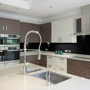Black High Gloss Acrylic Kitchen Splashback