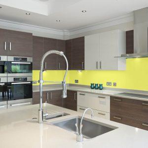 Lemon Yellow High Gloss Acrylic Kitchen Splashback
