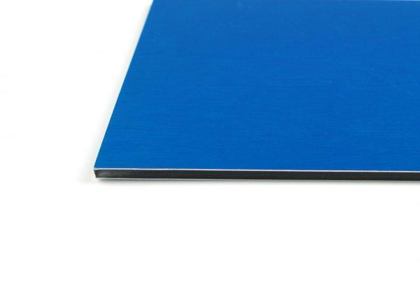 Electric Blue Brushed Aluminium Composite Panel