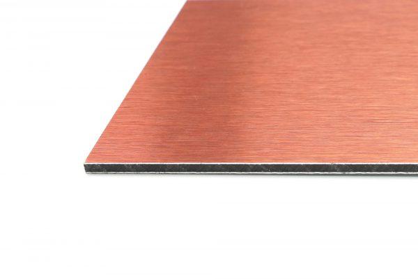 A4 Copper Brushed Aluminium Composite Panel