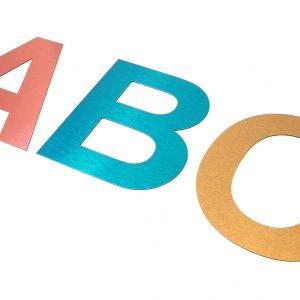 Aluminium Composite Flat Cut Letters