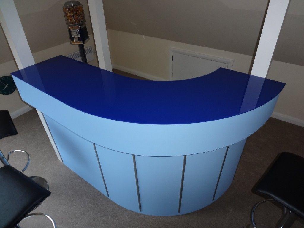 Blue Acrylic Bar Top