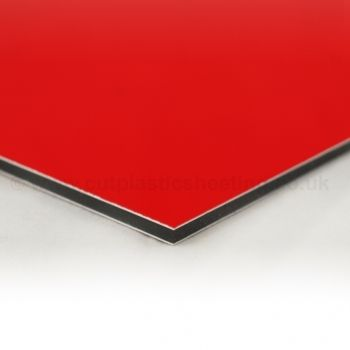 Edge of red dibond