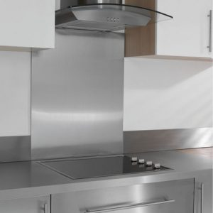 Stainless Steel Kitchen Hob Splashback