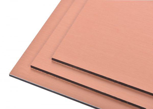 Copper Brushed Aluminium Composite Panel