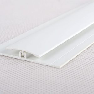 8ft White 2-Part Division Bar for Wall Cladding