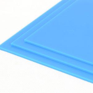100% Recycled Light Blue Greencast Acrylic Sheet (Gloss Finish)