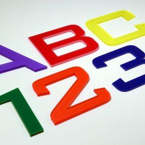 Acrylic Flat Cut Letters
