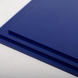 100% Recycled Deep Navy Blue Greencast Acrylic Sheet (Gloss Finish)