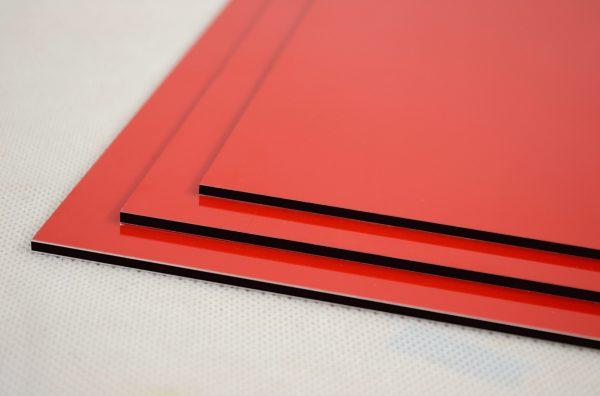 Red Dibond Aluminium Composite Panel