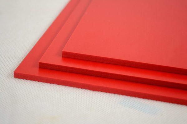 Red Foamex PVC Foam Board (Matte Finish)