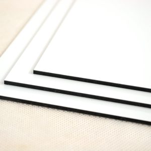 White Aluminium Composite Hoarding Board (Single Sided)