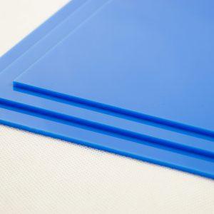 Light Blue Acrylic Kitchen Splashback (Gloss Finish)