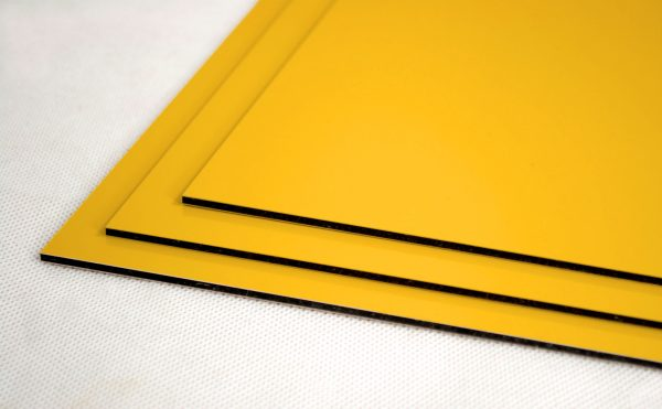 Yellow Dibond Aluminium Composite Panel