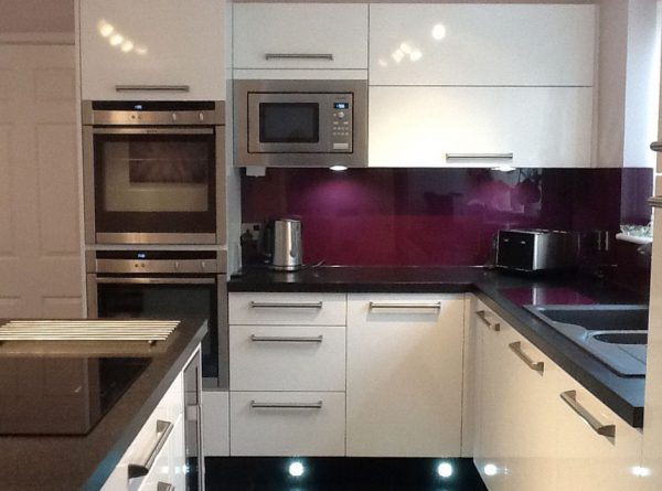 Aubergine Acrylic Kitchen Splashback (Gloss Finish)