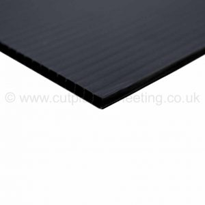 Black Correx Fluted Polypropylene Sheet 2440mm x 1220mm