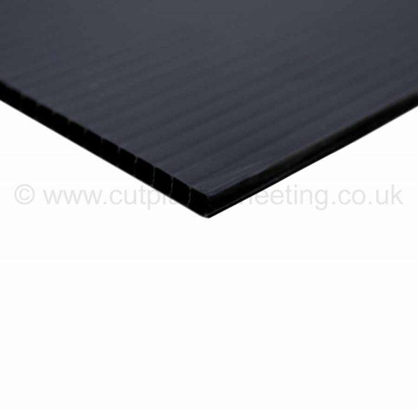 Black Correx Fluted Polypropylene Sheet 2440mm x 1220mm