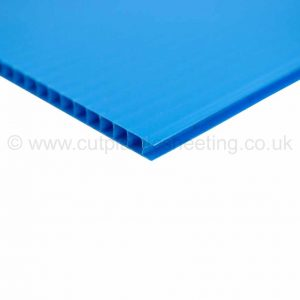 Blue Correx Fluted Polypropylene Sheet 2440mm x 1220mm