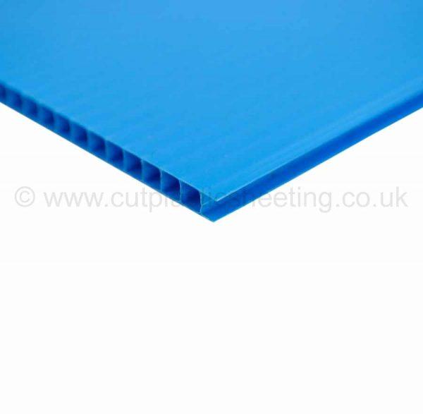 Blue Correx Fluted Polypropylene Sheet 2440mm x 1220mm