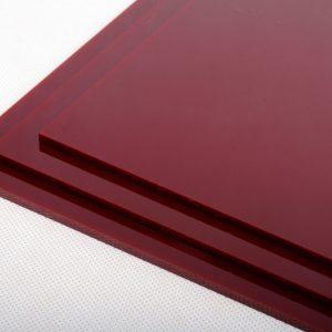Deep Red Acrylic Kitchen Splashback
