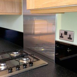 Black Acrylic Kitchen Splashback (Gloss Finish)