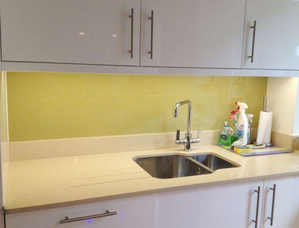 Pistachio High Gloss Acrylic Kitchen Splashback