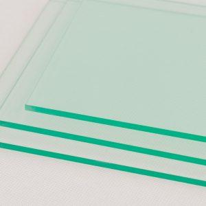 Cut To Size Glass Effect (Green Edge) Acrylic Fridge Shelf