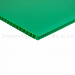 Green Correx Fluted Polypropylene Sheet 2440mm x 1220mm