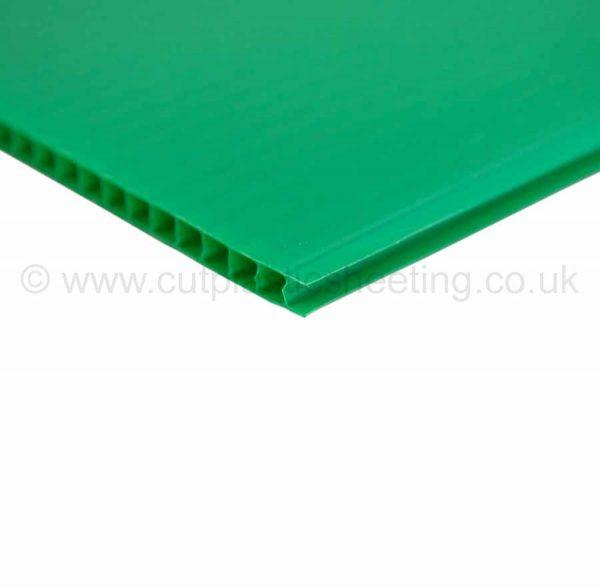 Green Correx Fluted Polypropylene Sheet 2440mm x 1220mm