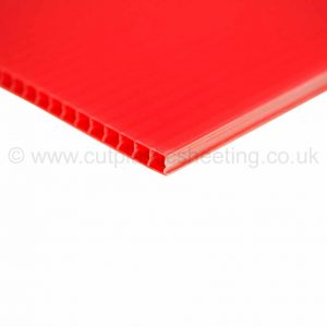 Red Correx Fluted Polypropylene Sheet 2440mm x 1220mm