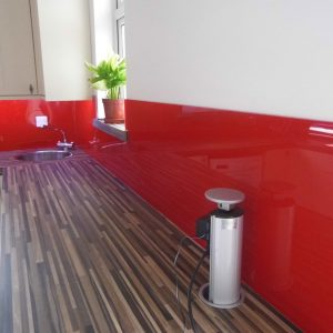 Red High Gloss Acrylic Kitchen Splashback