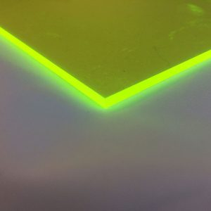 Fluorescent Green/Yellow Acrylic Sheet