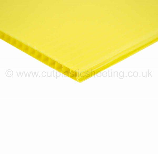 Yellow Correx Fluted Polypropylene Sheet 2440mm x 1220mm