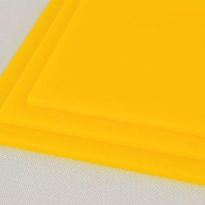 Yellow Cast Acrylic Discs (Gloss Finish)