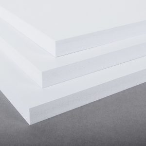 White Ex-Cel Integral Foam PVC Sheet
