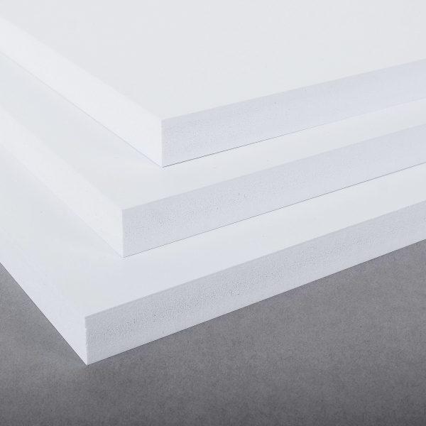 White Ex-Cel Integral Foam PVC Sheet
