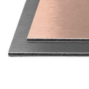 Brushed Rose Gold / Anthracite Dibond Aluminium Composite Panel