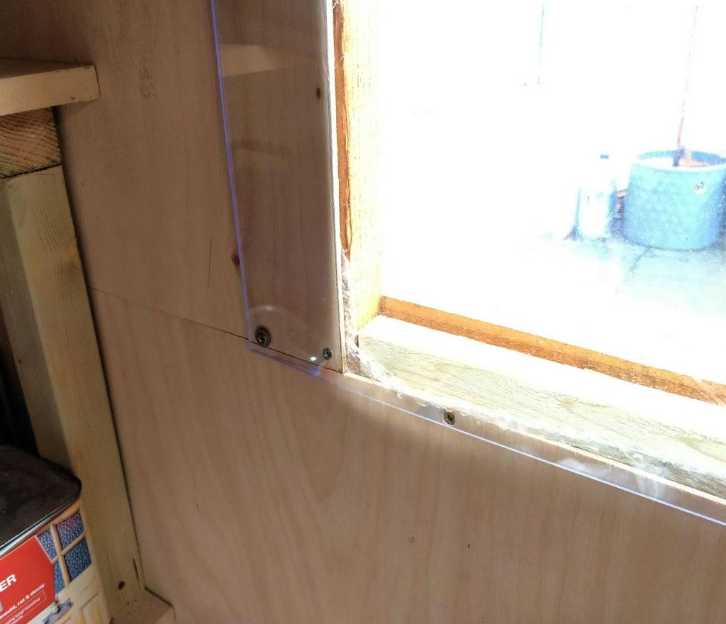 polycarbonate shed window secondary glazing